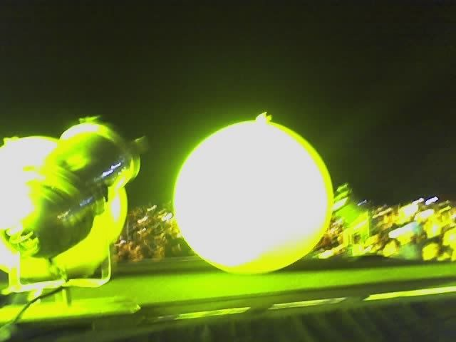 Yellow balloon resting