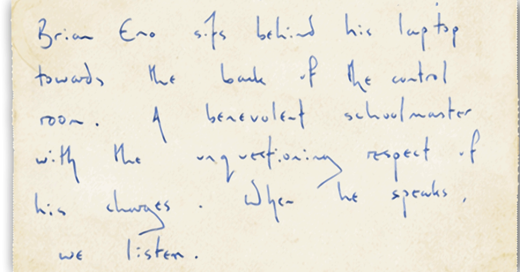 "Prospekt: ""When Brian Eno speaks, we listen"""
