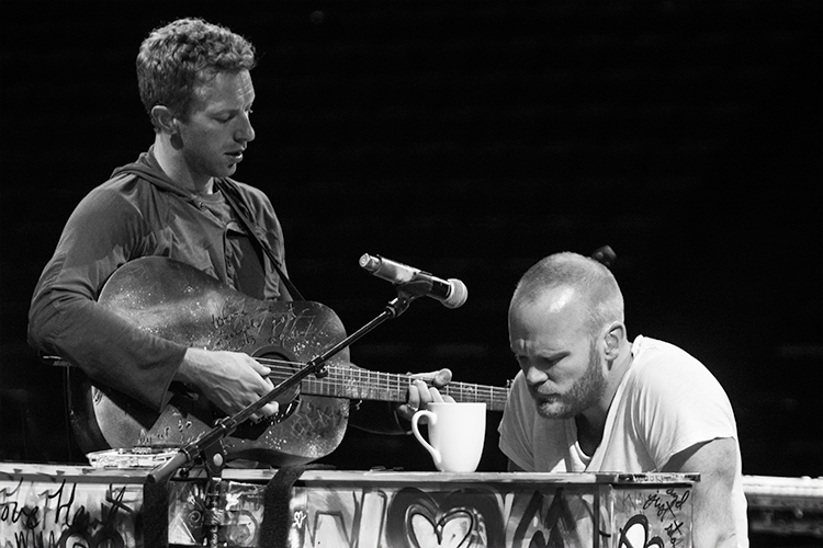 A rare Coldplay soundcheck