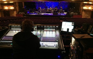 The view from Dan Green's sound desk. Photo: Anchorman