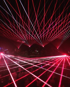 Clocks lasers. Photo: Anchorman
